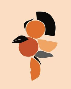Fruit illustration abstract New ideas Art And Illustration, Creative Illustration, Abstract Shapes, Abstract Print, Boho Pattern, Mises En Page Design Graphique, Flowers Wallpaper, Art Watercolor, Shape Art