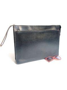 vintage BRIEFCASE black leather by lesclodettes on Etsy, $59.00