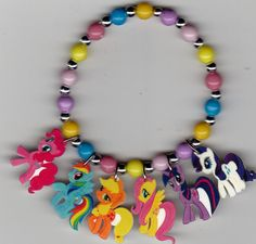 My Little Pony Inspired Bracelet by Oseweverything on Etsy, $7.00 ~ So Cute!