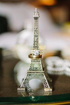 gold wedding rings - photo by Mustard Seed Photography http://ruffledblog.com/romantic-paris-elopement