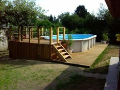 15 meilleures images du tableau habillage piscine hors sol in ground pools pools et swimming. Black Bedroom Furniture Sets. Home Design Ideas