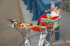 post / modern amina o.: Crochet on Freiburg´s Blue Bridge.