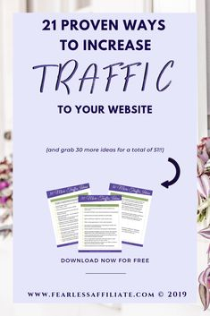 21 proven ways to increase traffic to your website is enough for most bloggers. But you are not most bloggers are you? Grab my 3 page cheat sheet of 30 more ways to capture traffic for a total of 51! That should be enough to help you soar past the competition. #increasetraffic #blogtraffictips #growtraffic #howtogettraffic #boostblogtraffic