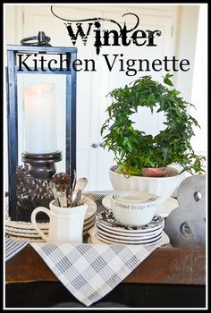 6 TIPS FOR CREATING A WINTER VIGNETTE ON YOUR KITCHEN ISLAND