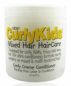 Curly Kids Curly Creme Conditioner http://www.lhboutique.com/Curly-Kids-Natural-Hair-Care-Products-s/1431.htm