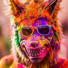 You never know who might want to be at a Holi festival.  Colorful Portraits from the 2012 Festival of Colors by Thomas Hawk