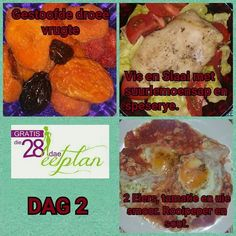 dag 2 Diet Recipes, Snack Recipes, Healthy Recipes, Diet Meals, Snacks, Recipies, 28 Dae Dieet, Dieet Plan, Dash Diet
