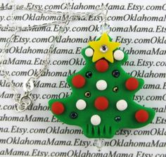 Christmas Polymer Clay 18 Inch Sterling Silver by OklahomaMama, $10.00