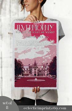 Wizarding School Posters Set of 8 posters Instant download