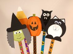 Did You Stamp Today?: Pencil Topper Halloween Treats