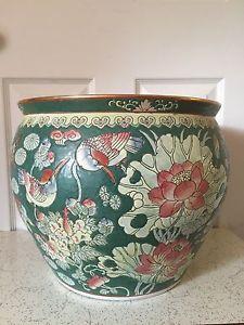 Tongzhi Dynasty Antique Chinese Porcelain Fish Bowl Planter Pot With Mark