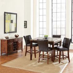 Montibello 6-piece Counter Dining Set, Other Clrs