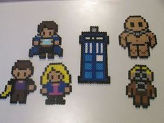 Doctor Who Rose and Doctor Number 9  with Captain Jack, Blon Slitheen, and Jamie (the Empty Child)