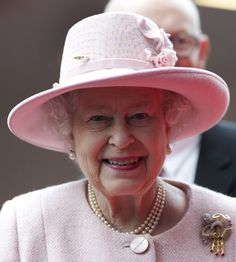 Queen Elizabeth - a hard working and dedicated woman- and very pretty in pink.