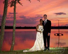 Sunset at the lake at Saphire Estate