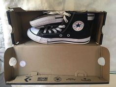 91a09a7e7653 Boys Converse Chuck Taylor High Tops Sneakers Black Shoes Size 2 youth 2Y   fashion  clothing  shoes  accessories  kidsclothingshoesaccs  unisexshoes  (ebay ...