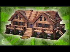 Minecraft Wooden House, Minecraft Cabin, Minecraft Shops, Modern Minecraft Houses, Minecraft Structures, Minecraft House Tutorials, Minecraft Plans, Minecraft Room, Minecraft House Designs