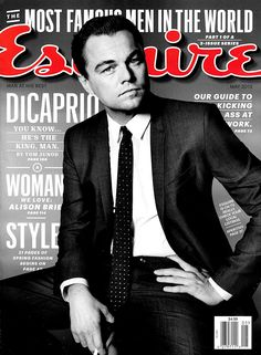 Leonardo DiCaprio for Esquire - I may not be a guy... But seriously one of my very favorite magazines. Great content. Great photography.