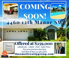 COMING SOON in The Grove!  4/2 with a pool on the lake!  Call Kim & Ron…