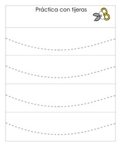 Actividades infantil Conjunto de fichas Práctica con tijeras -Orientacion Andujar Scissor Practice, Cutting Practice, Alphabet Tracing Worksheets, Preschool Worksheets, Cutting Activities, Pre Writing, Henna Designs, Fine Motor Skills, Phonics