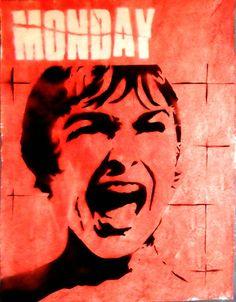 "Sly Juan; Aerosol Paint, 2012, Painting ""Monday"""