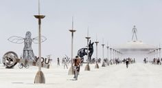 The Burning Man festival in Black Rock desert, NV