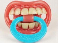 So creepy! 6 Totally Bizarre Baby Products: Bad Teeth Binky
