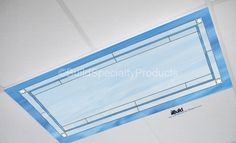 Fluorescent light covers – Marbled – Lead detailed cool blue base | Build Specialty Products