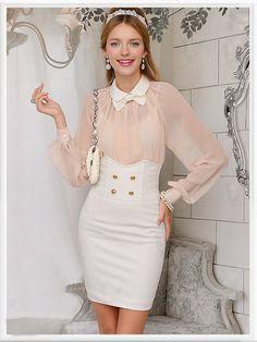 Morpheus Boutique - Pink Chiffon Long Sleeve Celebrity Bow Shirt, $59.99 (http://www.morpheusboutique.com/pink-chiffon-long-sleeve-celebrity-bow-shirt/)