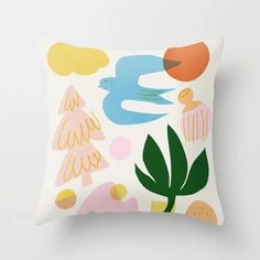 Abstraction_Nature_Beautiful_Day Throw Pillow by forgetme - Cover x with pillow insert - Indoor Pillow Throw Cushions, Couch Pillows, Designer Throw Pillows, Down Pillows, Accent Pillows, Garden Nursery, Fluffy Pillows, Pillow Design, Pillow Inserts