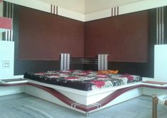 Bedroom is the place of home.We also need lots of furniture to make the room Just like a wardrob in the room. Wood Bed Design, Bedroom Bed Design, Bedding Master Bedroom, Bedroom Furniture Design, Wood Bedroom, Bed Furniture, Lcd Panel Design, Double Bed Designs, Bed In Corner
