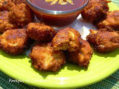 BBQ Chicken Pretzel Fritters...