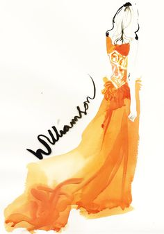 Orange Crush from David Downton  | Matthew Williamson