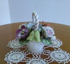 Vintage porcellana Capodimonte - Soprammobile Vintage - Arredo chic - Composizione porcellana floreale -  Fiori Capodimonte di VintaFai su Etsy