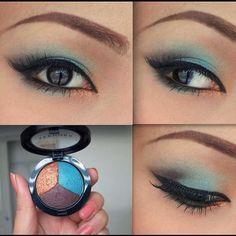 Turquoise makeup by Promise Phan