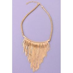 Gold Chains Necklace!!!! Super cute bib necklace and more accessories at - www.lookoftheday.com