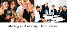 Here's how to use the word 'meeting' correctly.