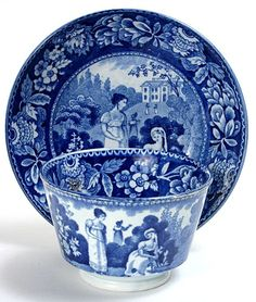 Classic blue.  Historical Staffordshire.