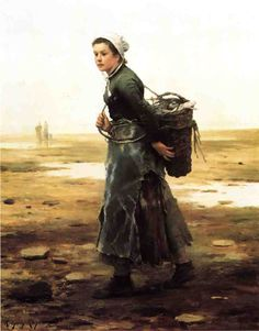 The Oyster Gatherer by Daniel Ridgway Knight