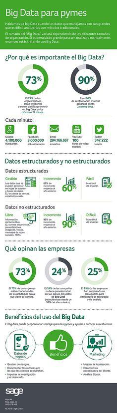 Big Data para pymes #infografia  Ideas Negocios Online para www.masymejor.com
