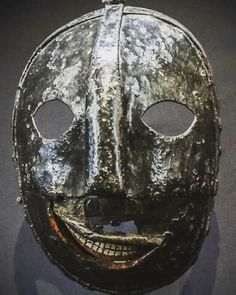 Tower of London's iron Headsman's (executioners) Mask.18th century.