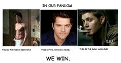 #supernatural --- I love every fandom I call home, and there is no real win, all are awesome in my book, but yeah - just yeah.