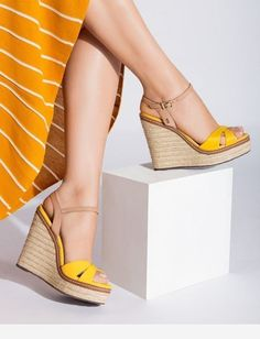 60 Summer Wedges Sandals To Look Cool - New Shoes Styles & D.- 60 Summer Wedges Sandals To Look Cool – New Shoes Styles & Design 60 Summer Wedges Sandals To Look Cool - Summer Wedges, Summer Shoes, Summer Sandals, Shoes Heels Wedges, Wedge Shoes, Sandal Wedges, Pumps, Flats, Shoe Wardrobe