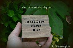 THIS IS A SMALL JEWELRY BOX, THE PERFECT SIZE FOR A RING PILLOW BOX ON YOUR WEDDING DAY!   jewelry box  Welcome to Simplycoolgifts!  This ring box is a sample and it's made to order! I use maple wood