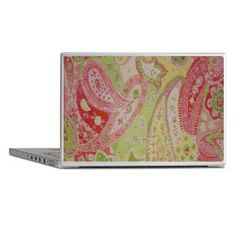 Vintage faux cross-stitch -- Paisley in Pink, Green & Red
