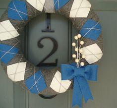 :Love this idea! Argyle wreath
