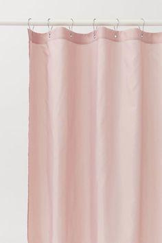 Patterned Shower Curtain - White/leaf-patterned - Home All Diy Bathroom Decor, Bathroom Interior Design, Bathroom Remodeling, Bathroom Storage, Bathroom Ideas, Pink Shower Curtains, Pink Showers, Silver Bathroom, H & M Home