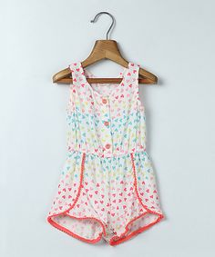Look at this Pink Heart Romper - Infant, Toddler & Girls on #zulily today!
