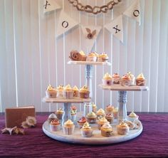 Cupcake Stand~ Large Round Base, 3 Tier Pedestal Cupcake Display, Rustic Elegant, Shabby Chic Cake Tower~ Sweets Table Wedding Decor Display on Etsy, $135.00