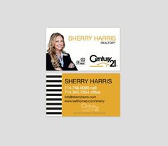 B&W stripes Custom choose your colors Modern Realtor business cards Real estate ideas and marketing Keller Williams Century 21 RE-max by Ladyluckpr